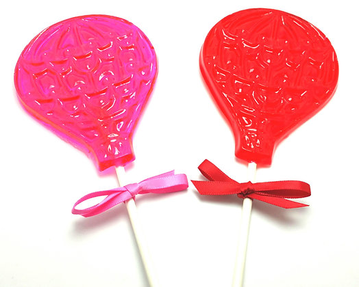 10 X-LARGE HOT AIR BALLOON LOLLIPOPS with RIBBON