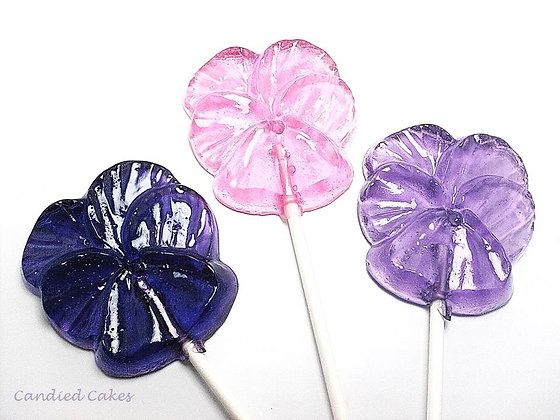 12 - LARGE PANSY LOLLIPOPS