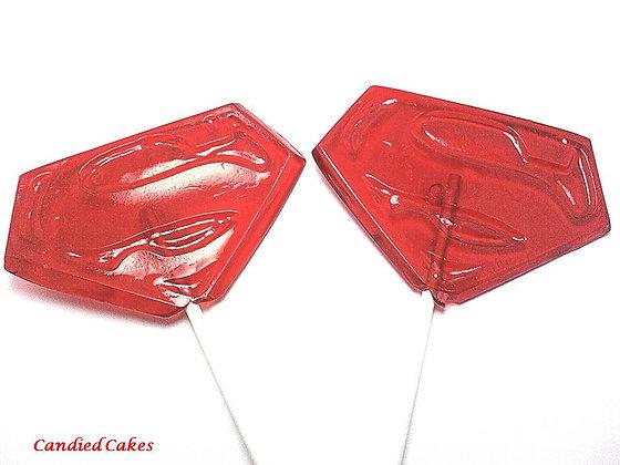 12 XLARGE SUPERMAN LOLLIPOPS