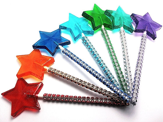 10 STAR WANDS with BLING STICKS