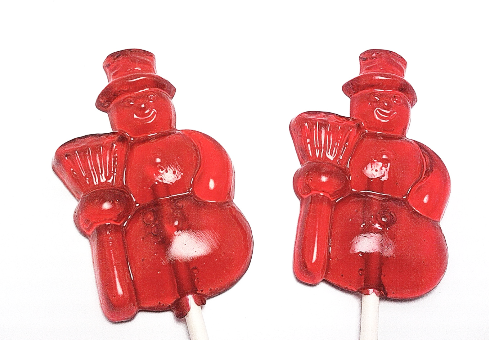 12 SNOWMEN LOLLIPOPS