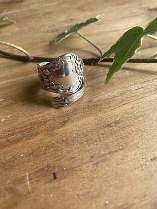 Daisy Spoon Ring by Silversmith Spirit