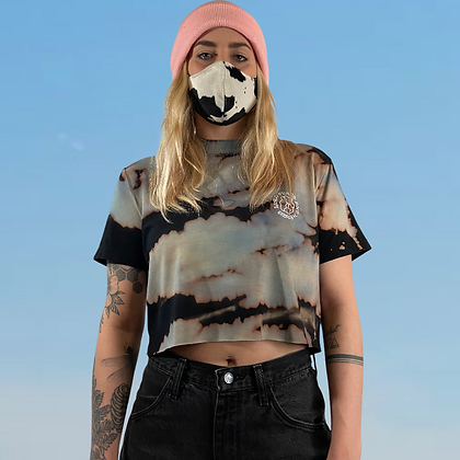 World peace and Henry's collab | Handmade bamboo cropped T-shirt