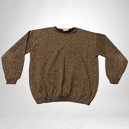 Glitter | Gold sparkle vintage sweater