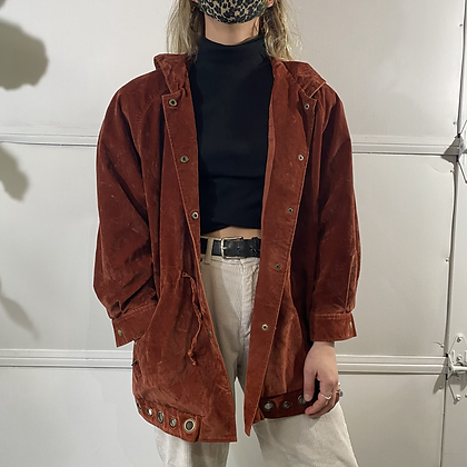 Burnt Out | Burnt Orange Velvet Jacket