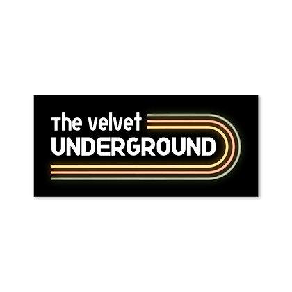 Neon TVU Logo Sticker