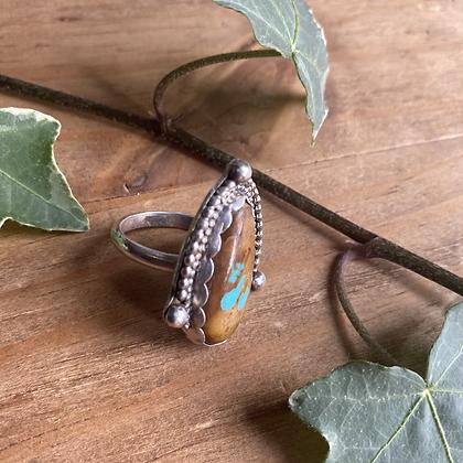 King man Turquoise Ring by Silversmith Spirit