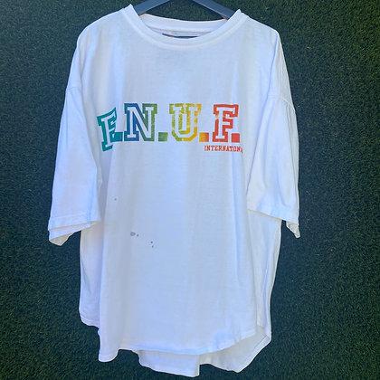 Enuf said | 90's white T-shirt