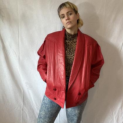 Red rocket | 80's vintage red leather jacket