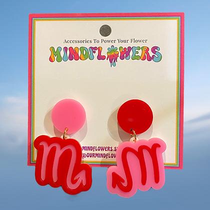 Scorpio earrings by MindFlowers