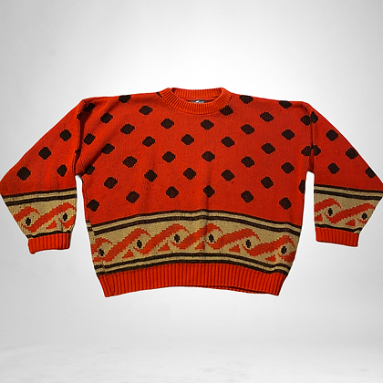 Won't you buy me a red sweater? | vintage red knit sweater