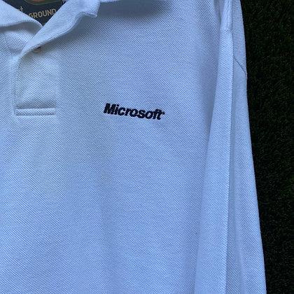 Bill Gates | vintage microsoft long sleeved polo T-shirt