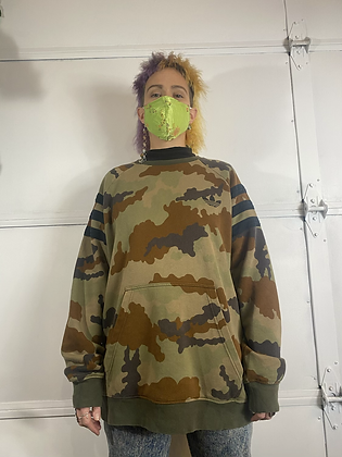 Where are you dad?  | Y2K adidas camo sweater
