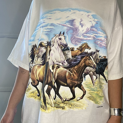 We'll go riding in the horses | Vintage horse t-shirt