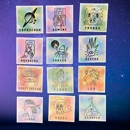 Star sign stickers | by Culture Flock