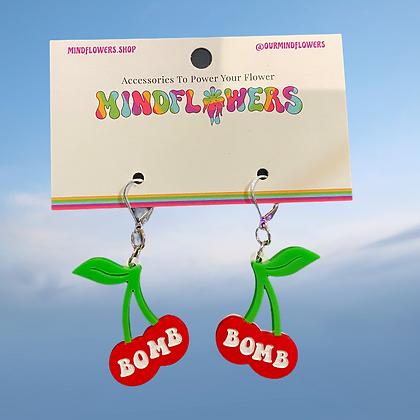 Cherry bomb earrings by MindFlowers