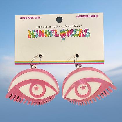 Seeing eye earrings by MindFlowers