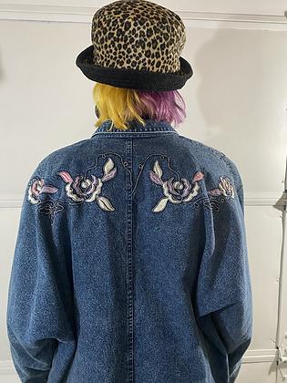 Bed of roses | 90's denim jacket