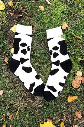 Got milk?  | Cow print Okie Dokie socks