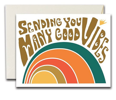 Good vibes cards by The Rainbow Vision