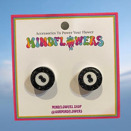 8 ball earrings by MindFlowers
