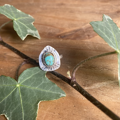 Turquoise Ring by Silversmith Spirit