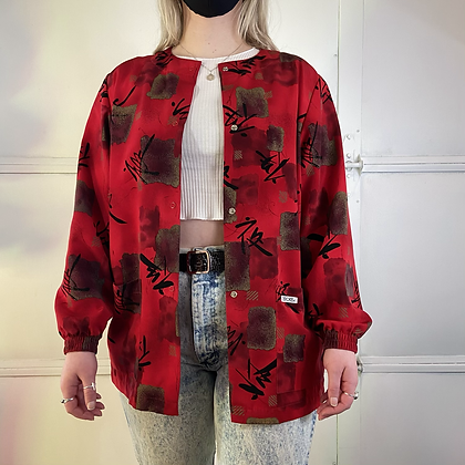 Red Dragon   Vintage Button Up
