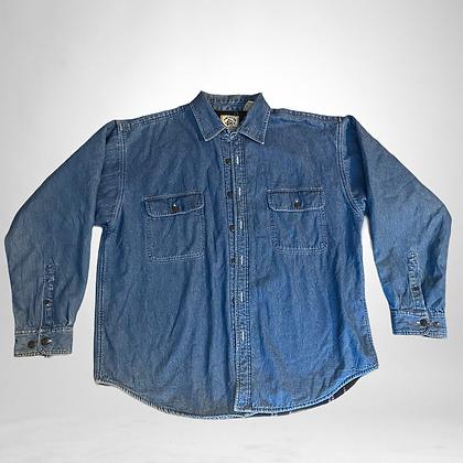 Banana toast | fleece lined Vintage Denim Button Up Shirt