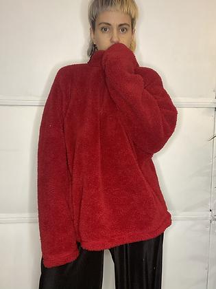 Red Robin   vintage fleece sweater
