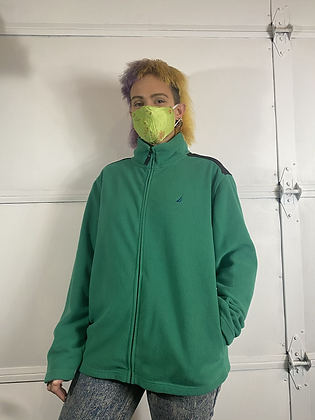 Green back   vintage polar fleece sweater