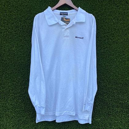 Bill Gates   vintage microsoft long sleeved polo T-shirt