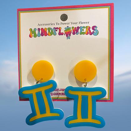 Gemini earrings by MindFlowers