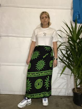 On a beach | Vintage wrap skirt
