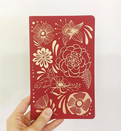 Flower Power notebook by The Rainbow Vision