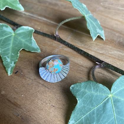Baja Turquoise Ring by Silversmith Spirit