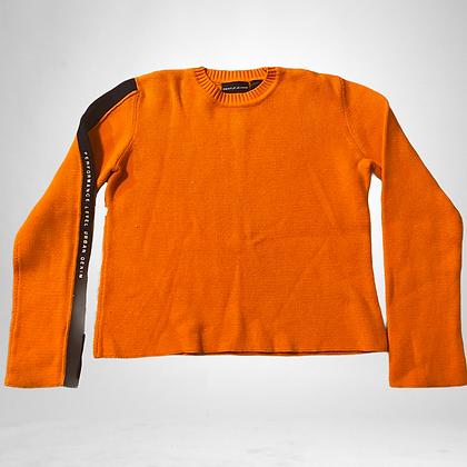Tangerine Donna | DKNY orange knit sweater