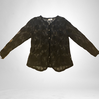 Racey lacey   Vintage lace button up