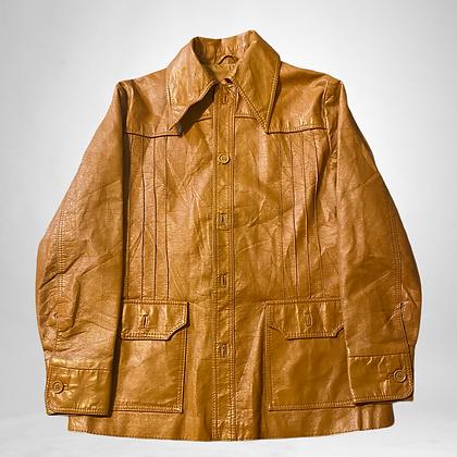 Pleather | Honey coloured 70's style jacket