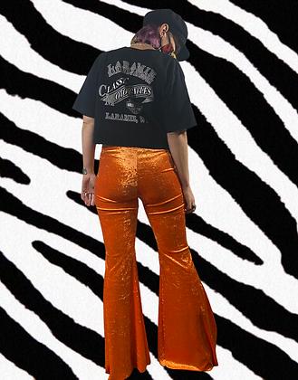 Clockwork Orange | handmade velvet flares