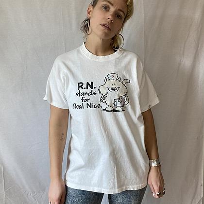 Nice nurse | vintage nurse T-shirt