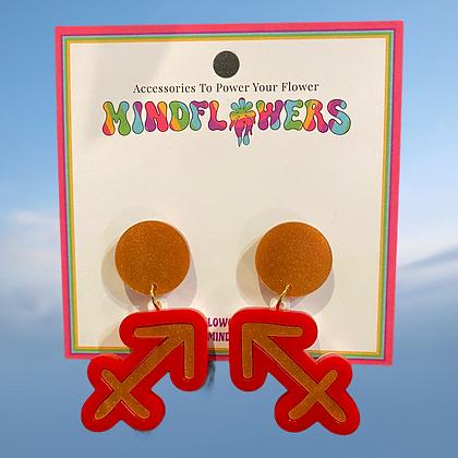 Sagittarius earrings by MindFlowers