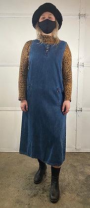 Come On Over | Vintage Denim Maxi Dress