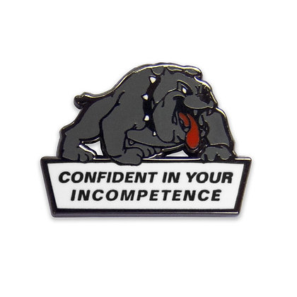 """Confident Dog"" Lapel Pin"