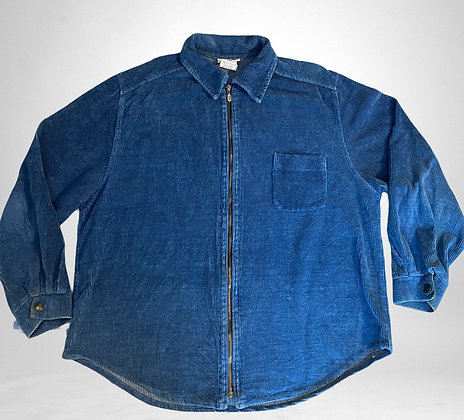 I'm bored | Vintage thick Blue corduroy zip up shirt