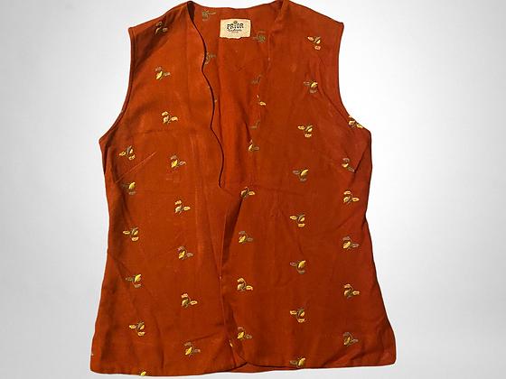 Grandma's garden   Vintage floral vest