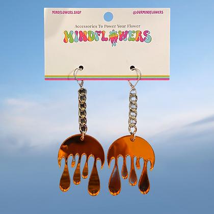 Melting moon earrings by MindFlowers