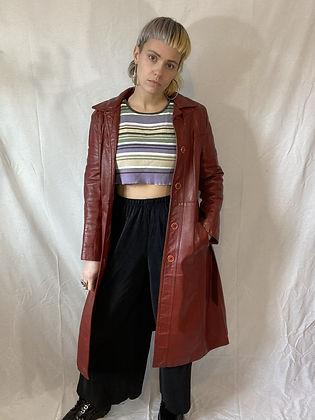 Reece's pieces   vintage leather trench-coat