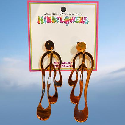 Melting peace earrings by MindFlowers