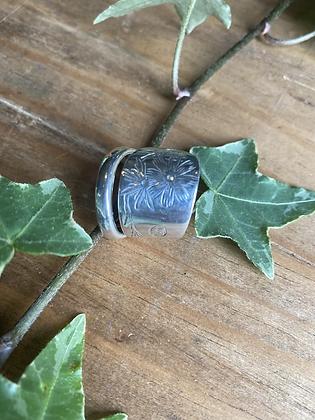 Flower Spoon Ring by Silversmith Spirit