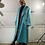 Thumbnail: Blue lagoon | Vintage satin quilted robe